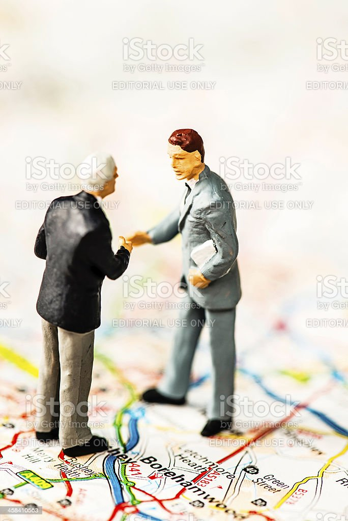 Business Partnership Deal Sealed in England stock photo