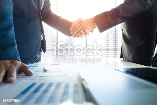 istock Business partnership meeting concept. 637057560