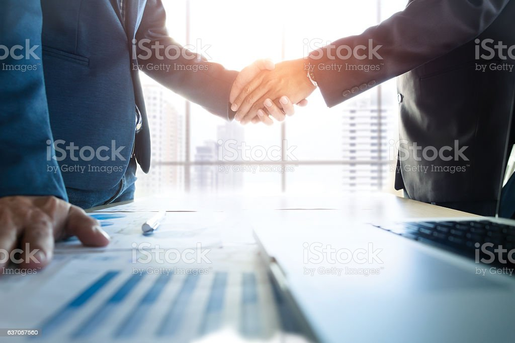 Business partnership meeting concept. stock photo