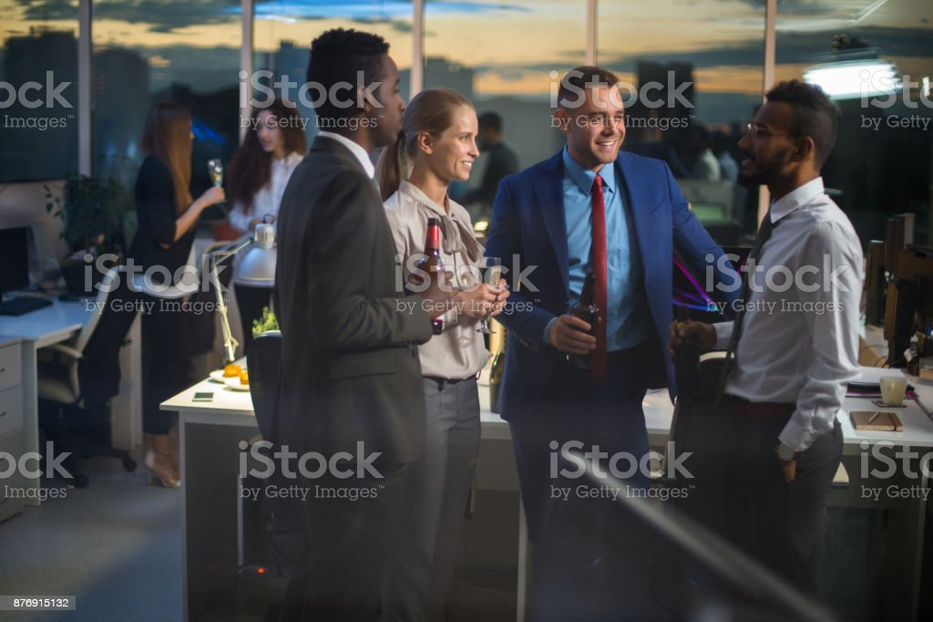 Business party in office - foto stock