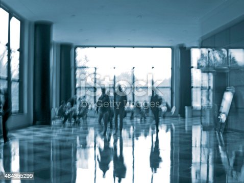 istock business people activity in the office lobby motion blur 464355299
