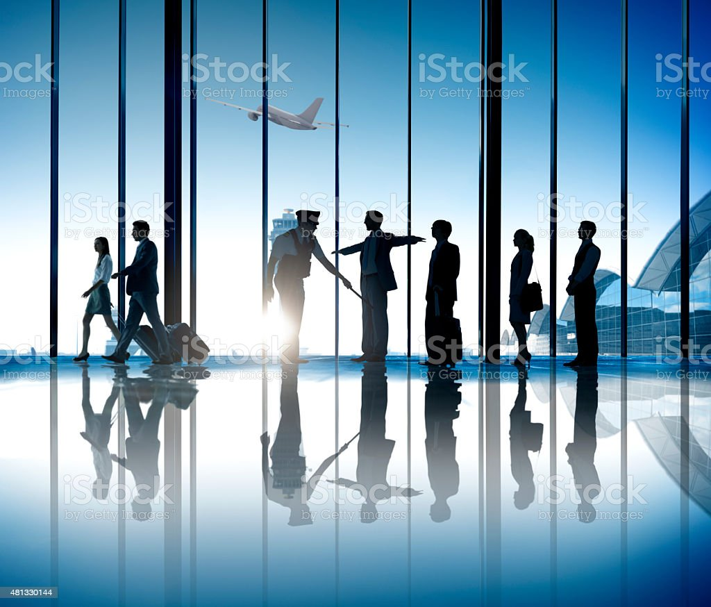 Business People Airport Security System Business Travel Journey stock photo