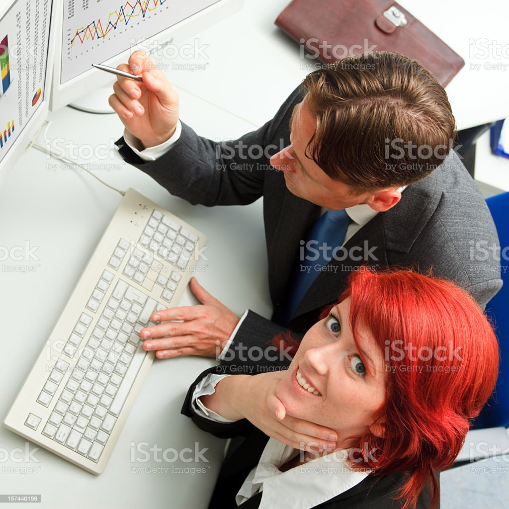 business people analyzing some data royalty-free stock photo