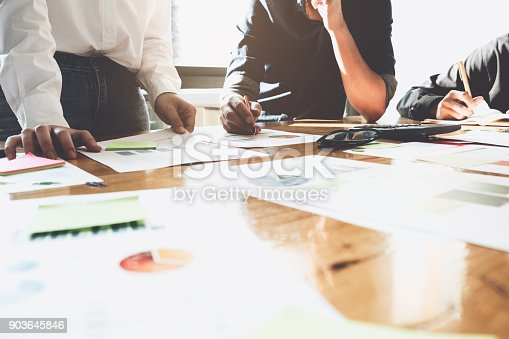 istock Business People Analyzing Statistics Business Documents, Financial Concept 903645846