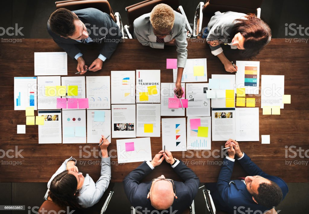 Business People Analyzing Statistics Financial Concept - foto stock