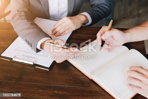 663458084 istock photo Business people and lawyers discussing about agreement papers and contract, Advice and Legal services Concept. 1022784678