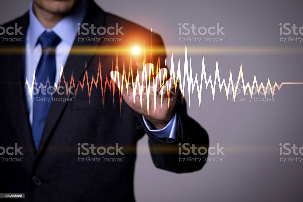 Business people and the future of technology stock photo