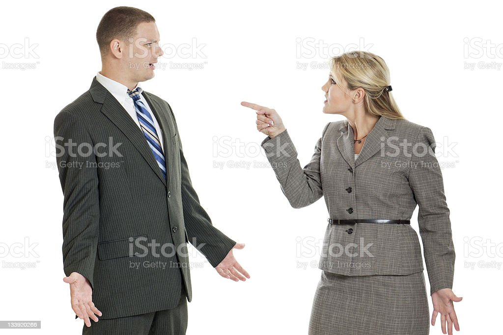 Business People Arguing royalty-free stock photo