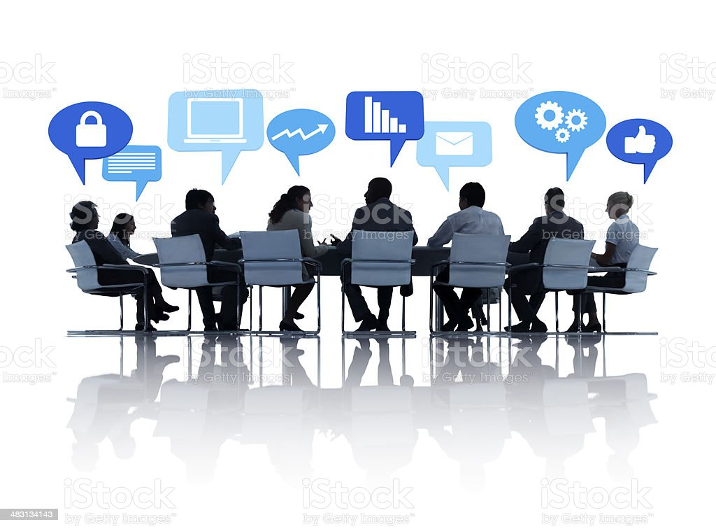 Business people around table royalty-free stock photo