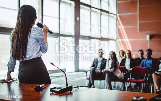 938409136 istock photo Business People at a Conference Event 1131145785