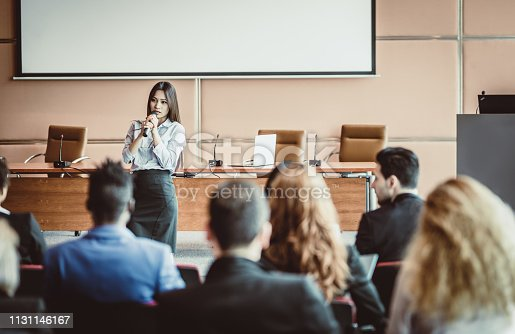 938409136 istock photo Business People at a Conference Event 1131146167