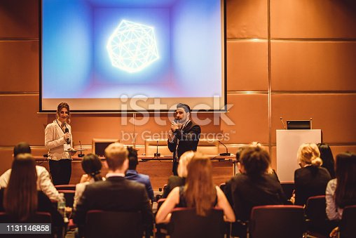 938409136 istock photo Business People at a Conference Event 1131146858