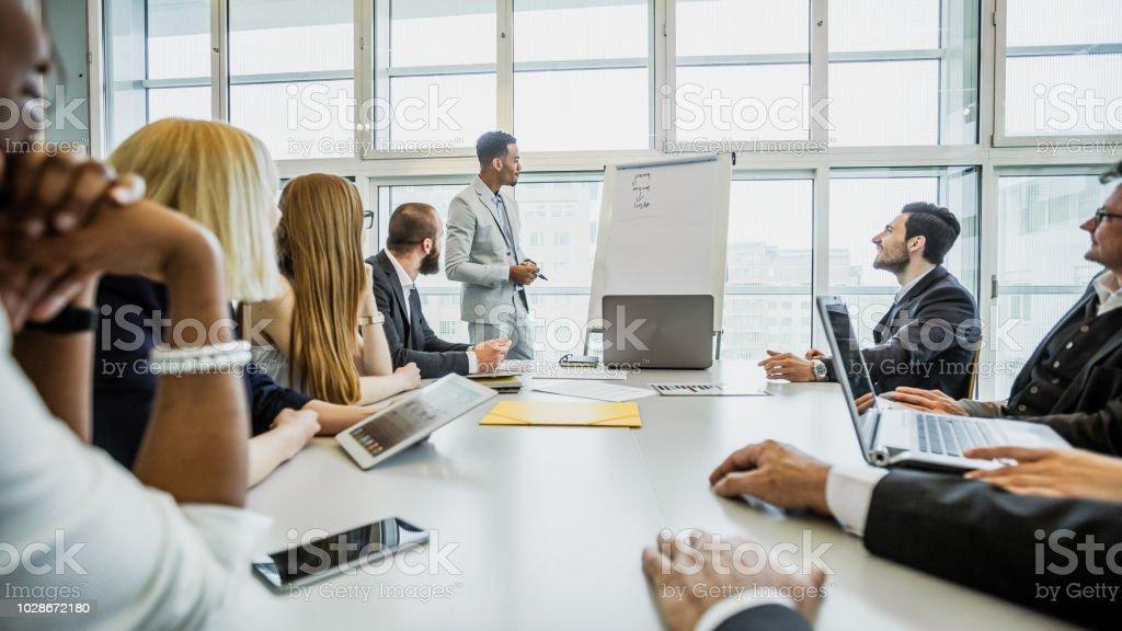 Geschäftsleute auf einem Seminar – Foto