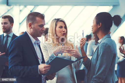 istock Business people at conference, coffee break 646218098