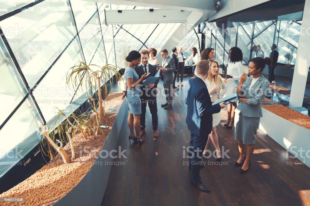 비즈니스 사람들 회의 커피 브레이크 royalty-free 스톡 사진