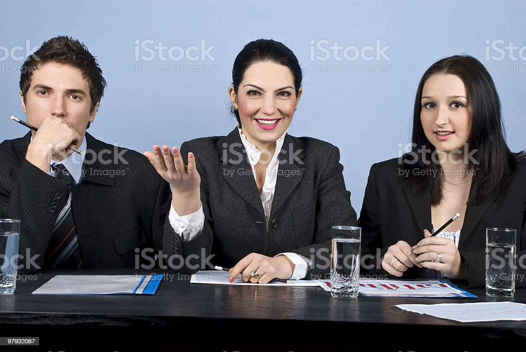 Business people at conference royalty-free stock photo