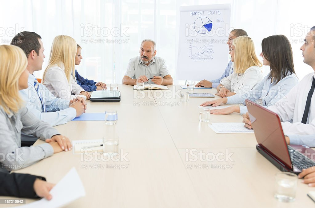 Business people at office meeting royalty-free stock photo