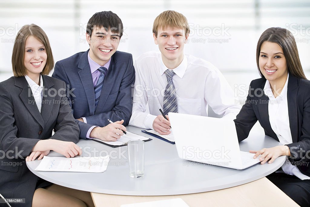 Business people at office royalty-free stock photo