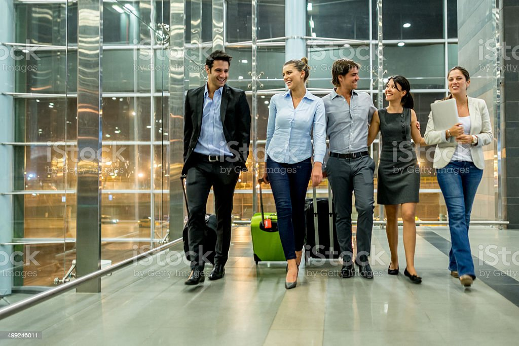 Business people at the airport stock photo