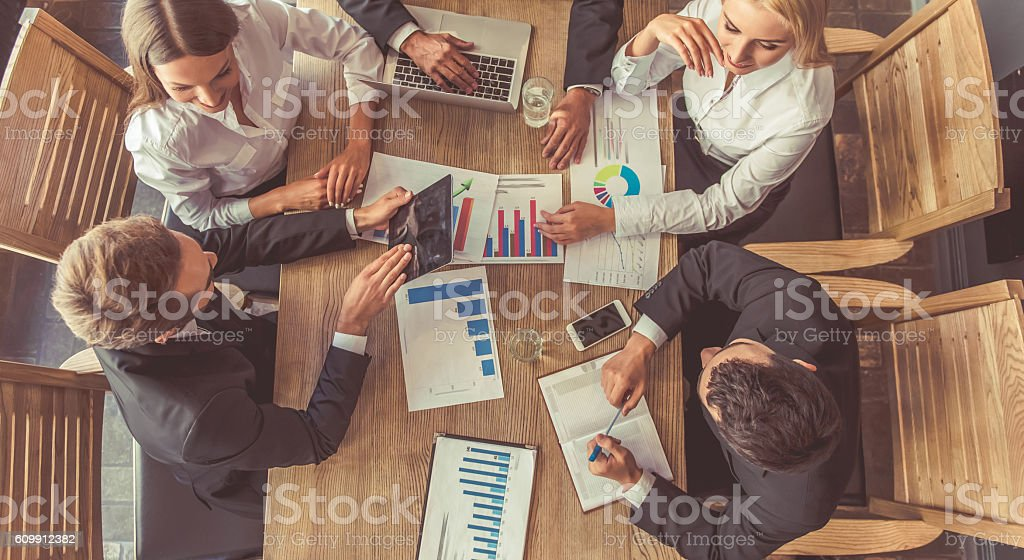 Business people at the conference stock photo