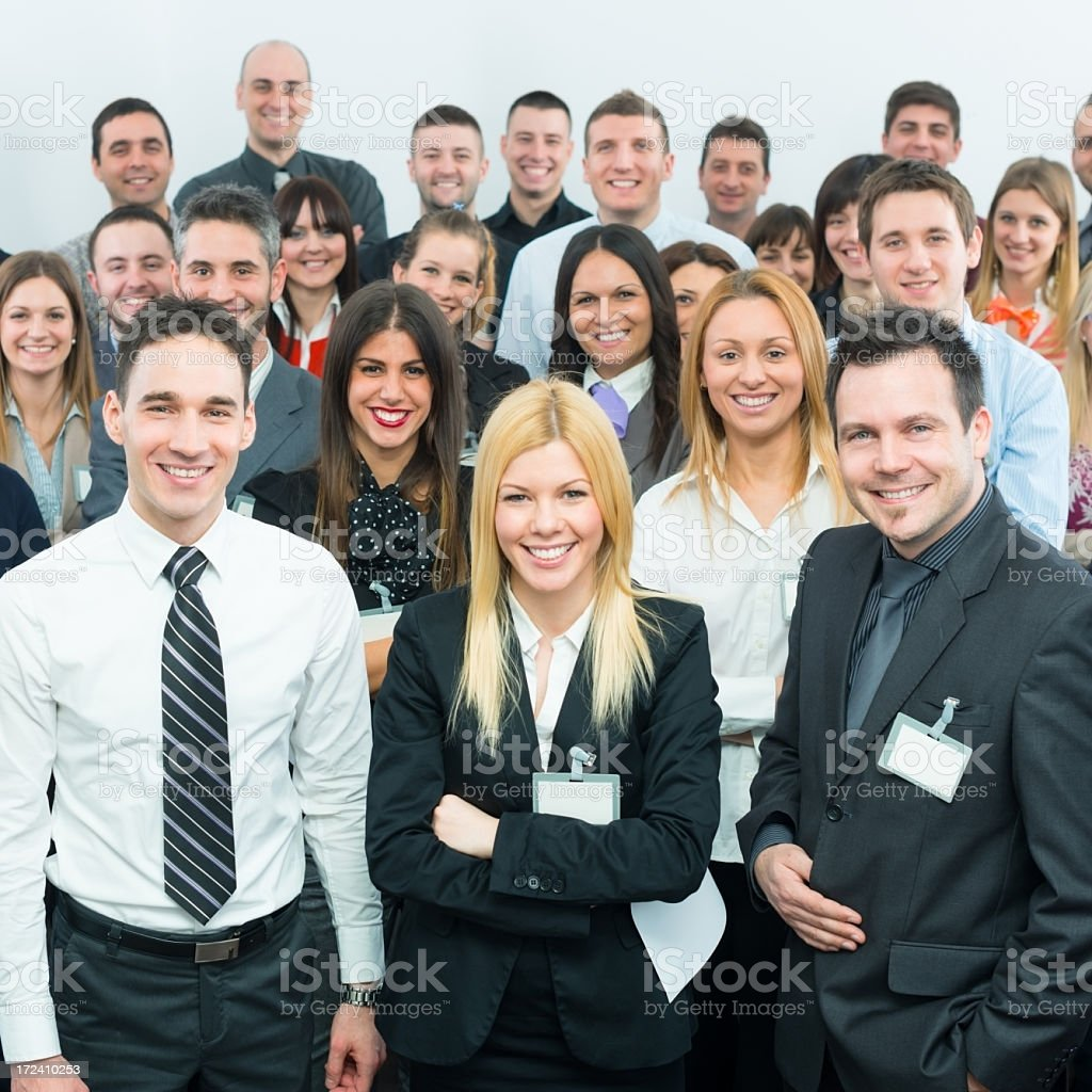 Business people at the seminar royalty-free stock photo
