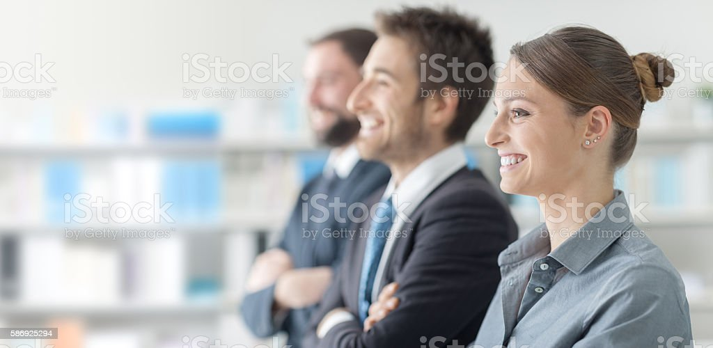 Business people at the seminar stock photo