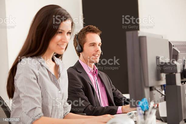 Business People At Work In Office Stock Photo - Download Image Now