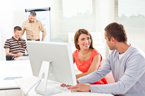 Business People At Work Stock Photo - Download Image Now