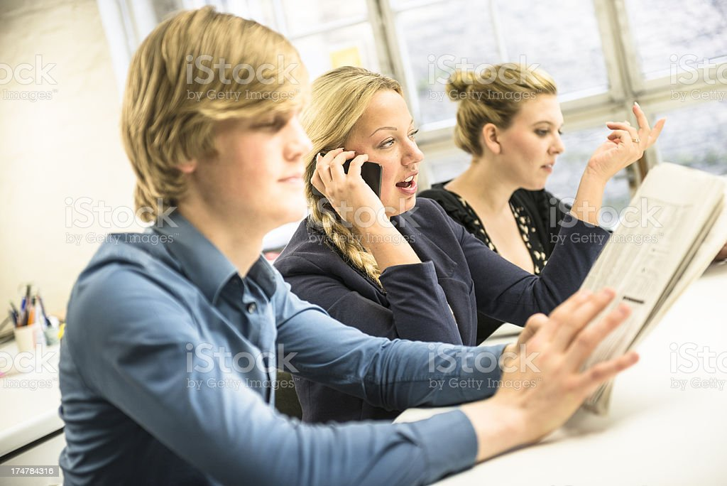Business people at work royalty-free stock photo