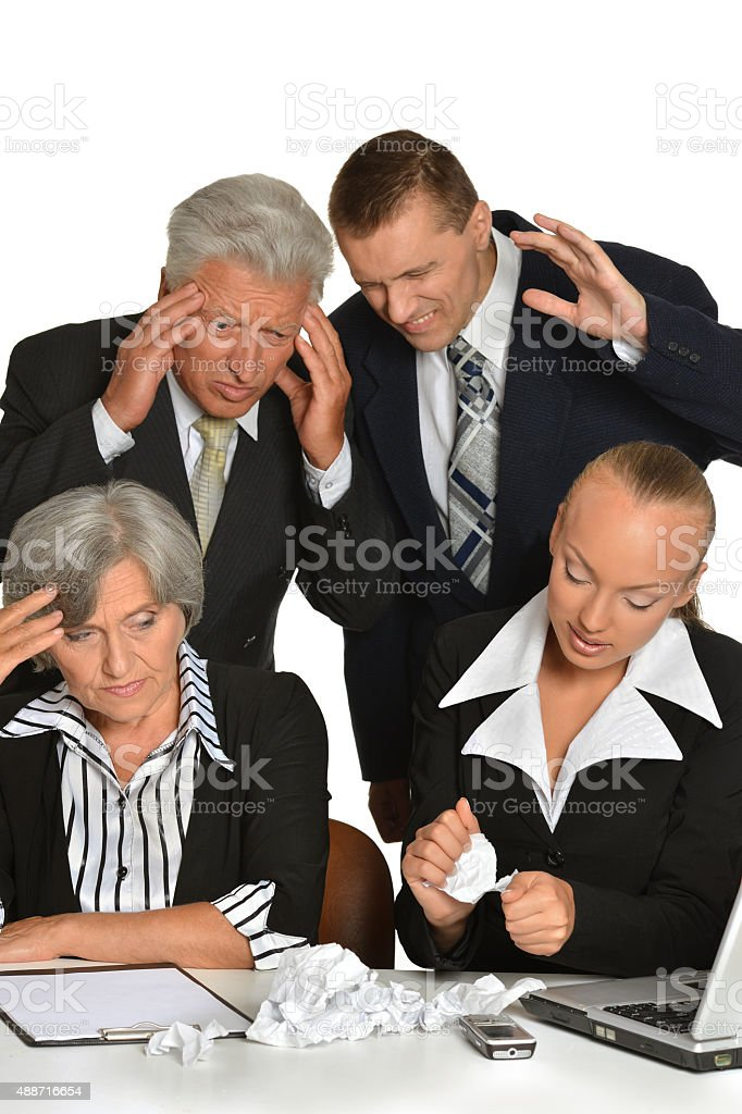 Business people at work stock photo