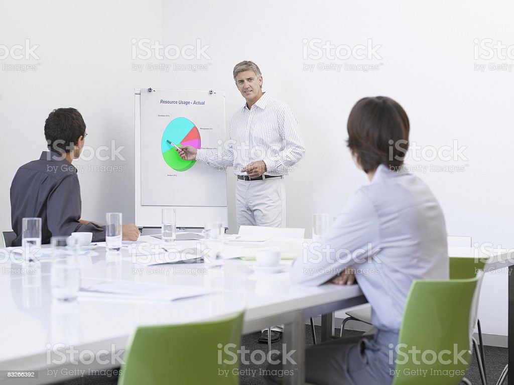 Business people brainstorming in conference room royalty-free stock photo