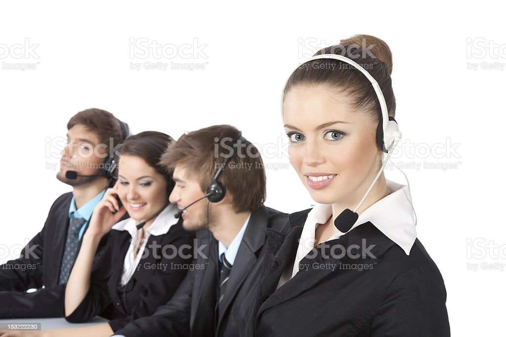 business people call center royalty-free stock photo