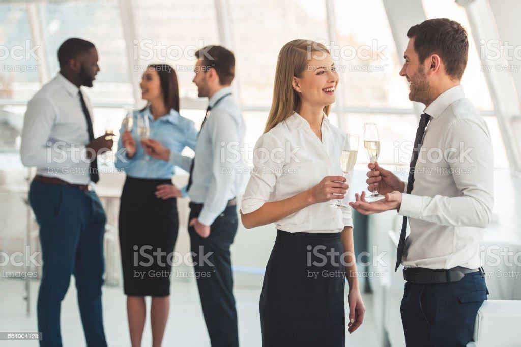 ビジネスの人々のお祝い ストックフォト