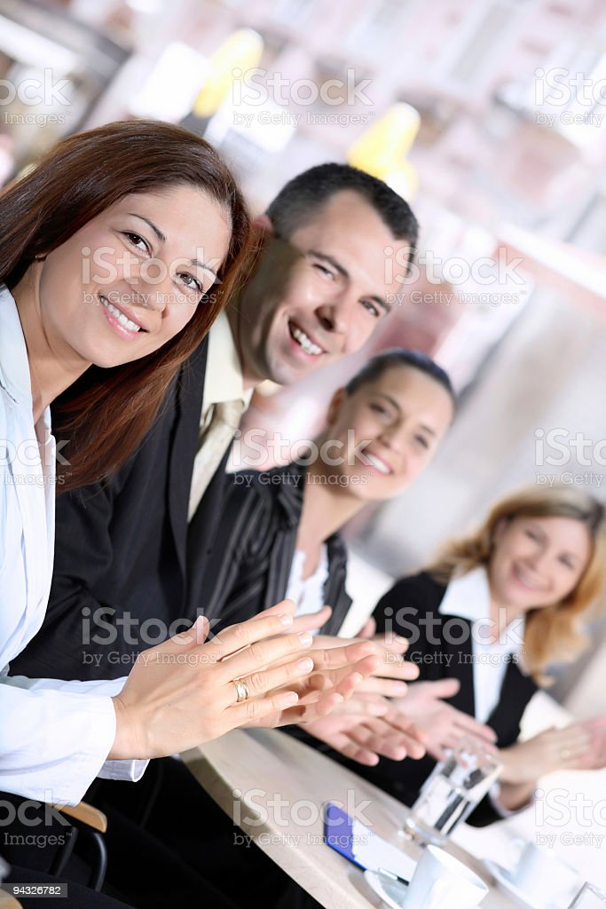 Business people clapping. royalty-free stock photo