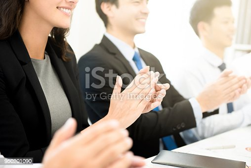 924520168 istock photo Business people  clapping their hands at the meeting 950201090