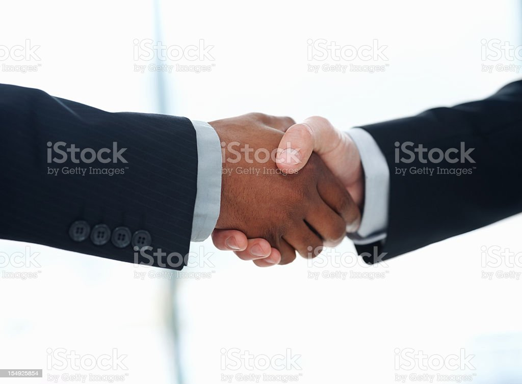 Business people closing a deal royalty-free stock photo