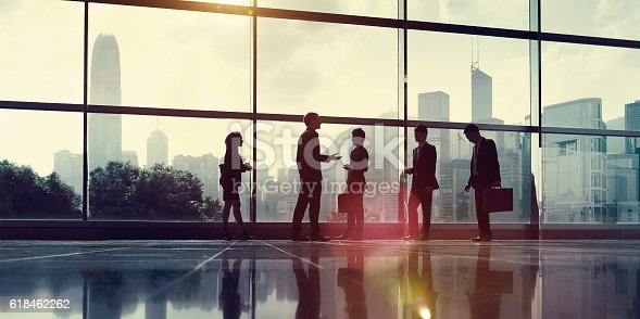 istock Business People Communication Office City Concept 618462262
