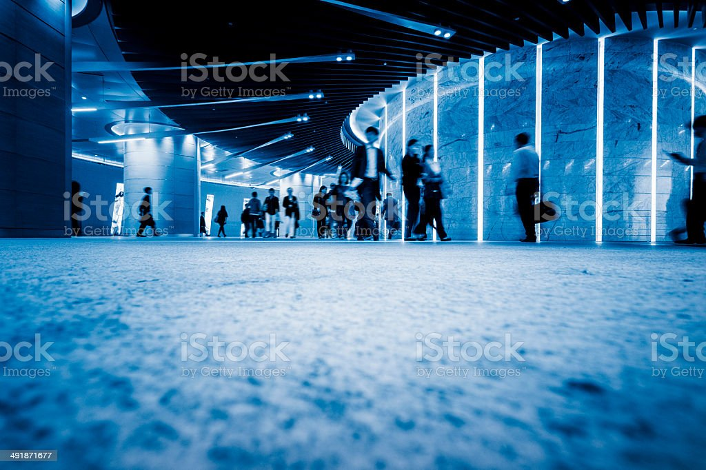 Business people commuting  of hong kong royalty-free stock photo
