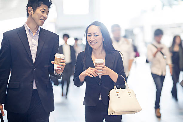 business people commuting to work - 通勤 ストックフォトと画像
