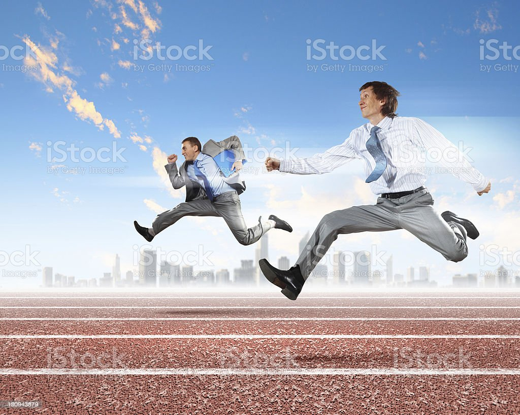 Business people competing royalty-free stock photo