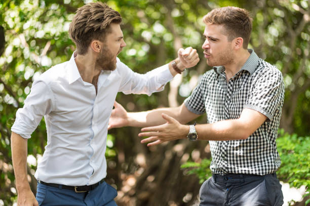 business people conflict problem - fighting stock photos and pictures