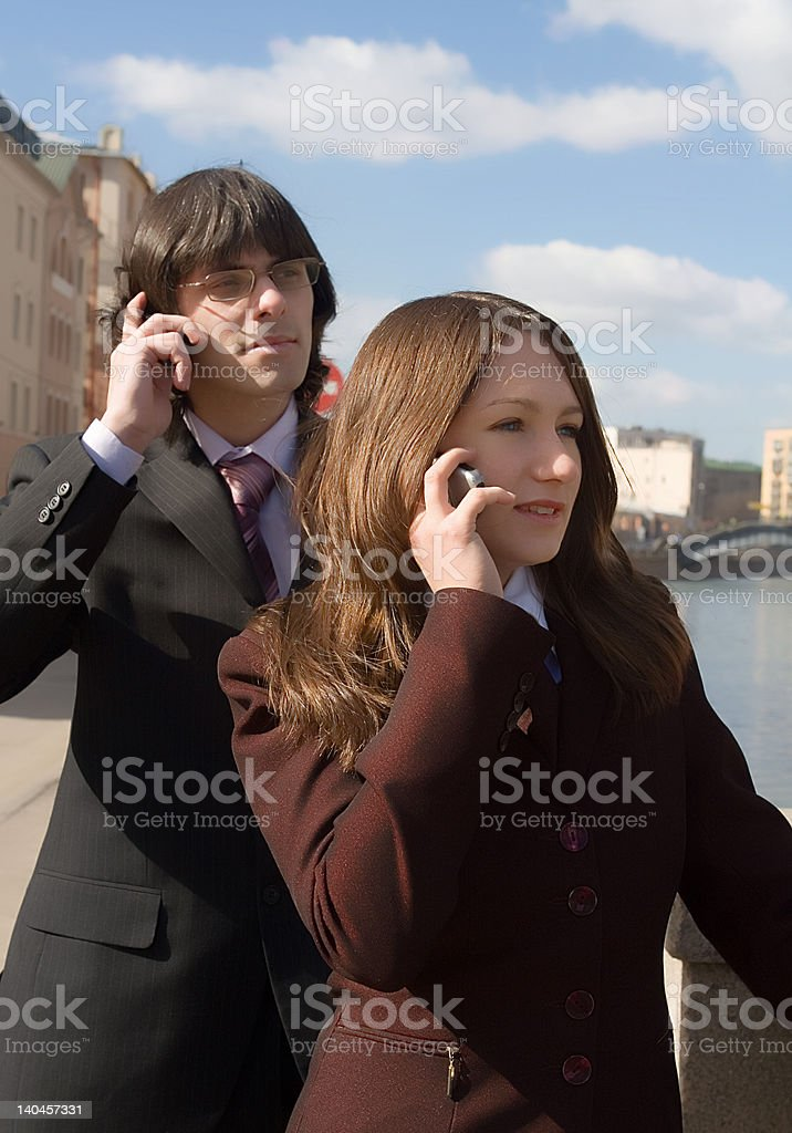 Business people connected - II. royalty-free stock photo