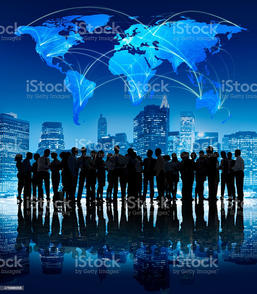 Business People Corporate Outdoors Concept ***NOTE TO INSPECTOR: All models in this image have signed model releases. Some models have been duplicated more than once. 2015 Stock Photo