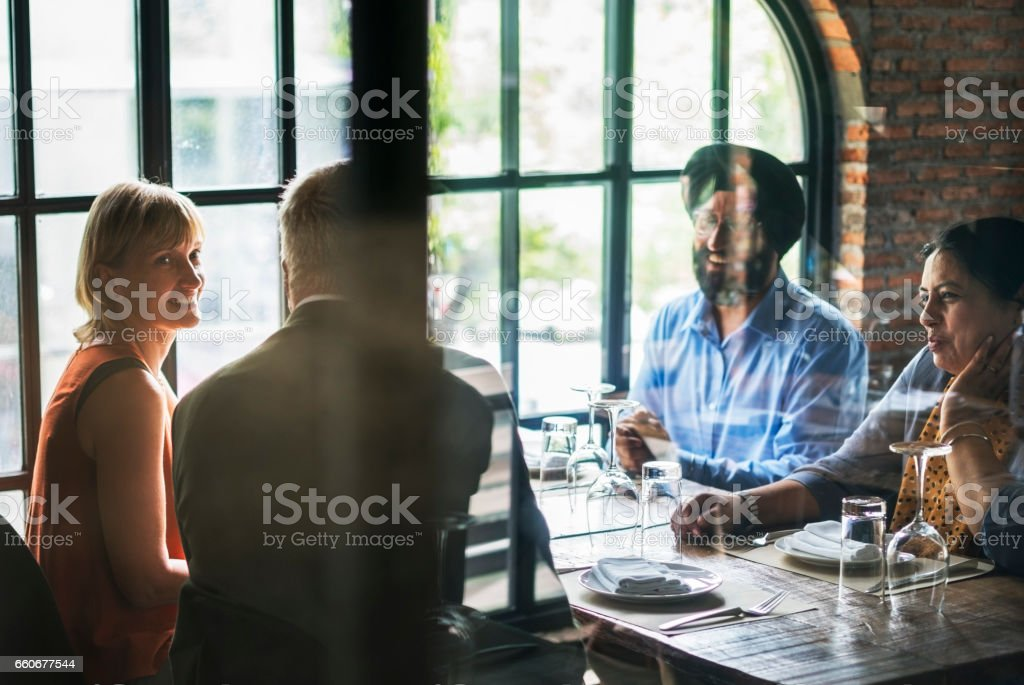 Business People Dining Together Concept Stock Photo - Download Image Now