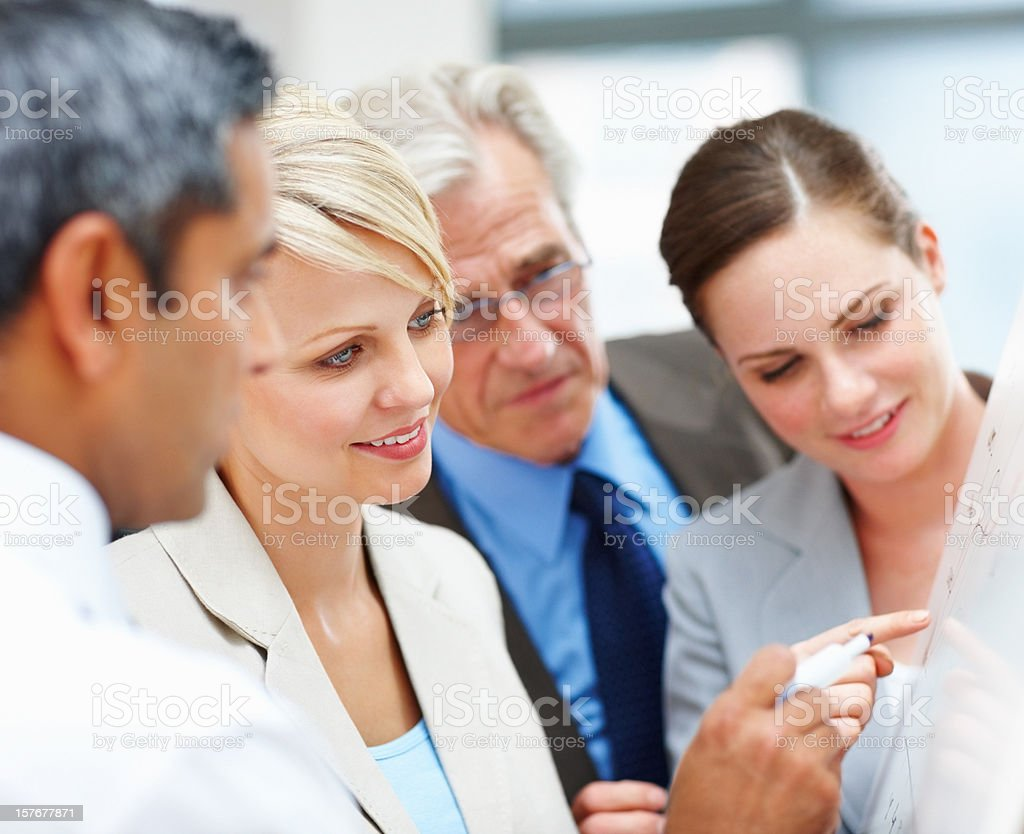 Business people discussing a new project at board meeting royalty-free stock photo