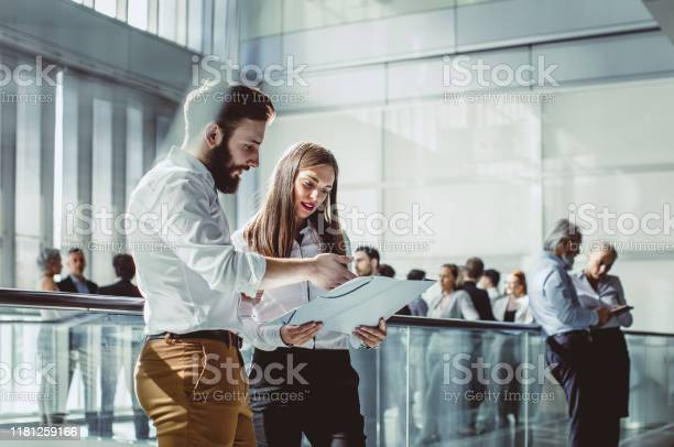 Business People Discussing At A Conference Event Stock Photo - Download Image Now