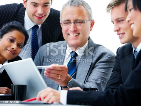 669854210 istock photo Business people discussing in a meeting 145183546
