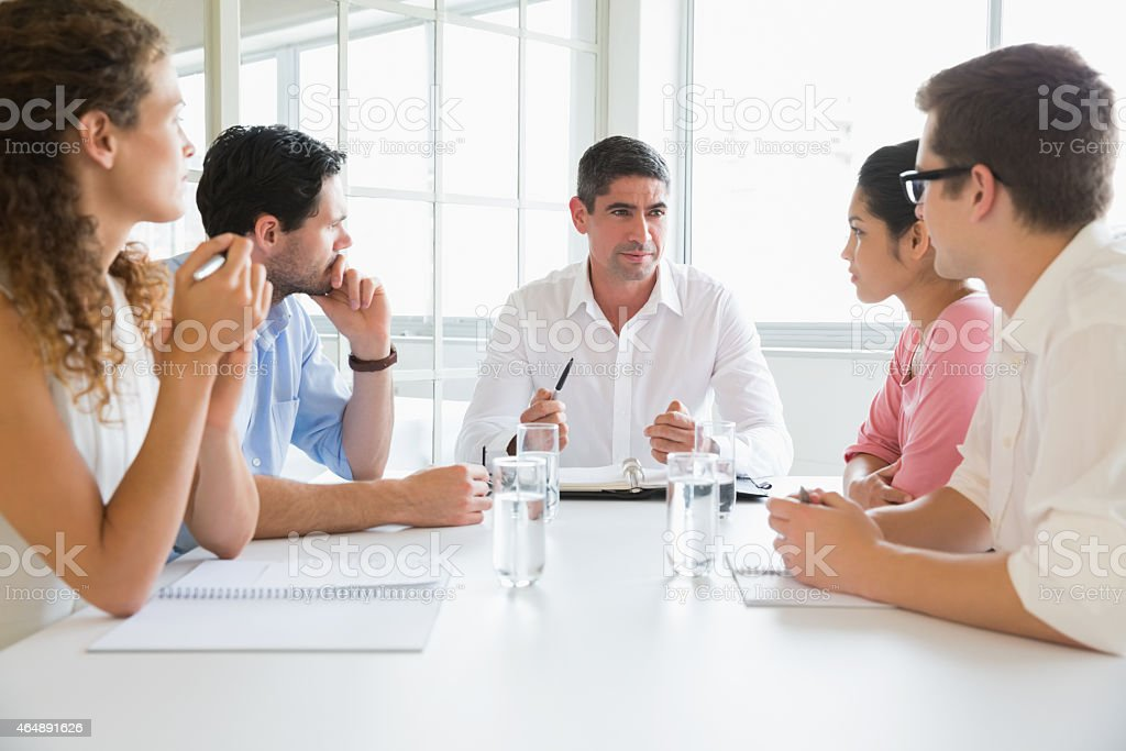 Business people discussing in conference meeting stock photo