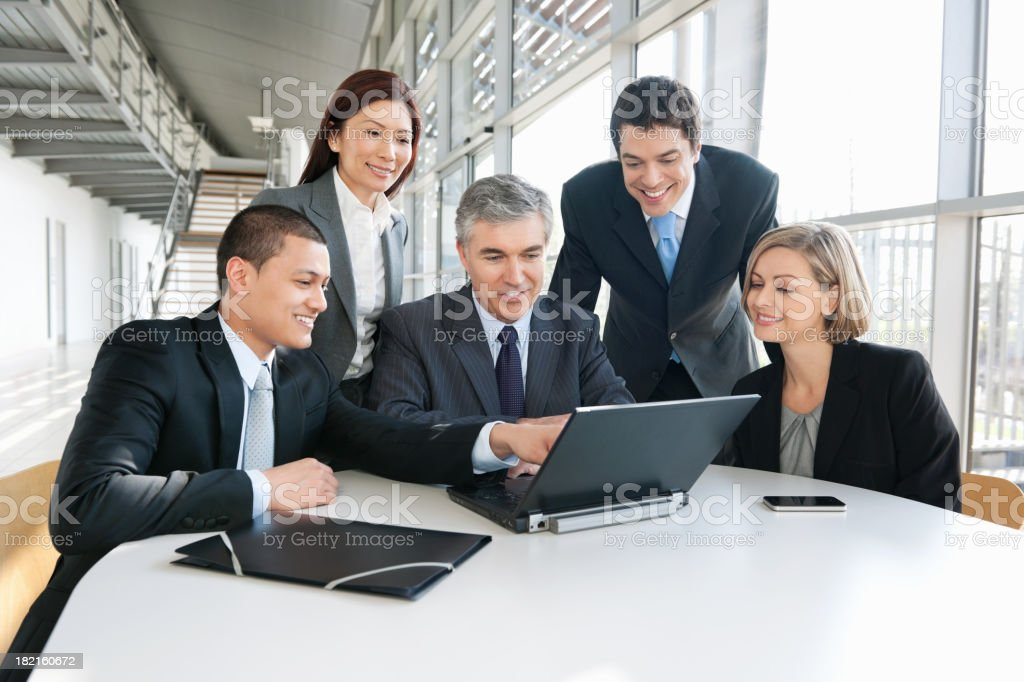 Business People Discussing In Meeting royalty-free stock photo