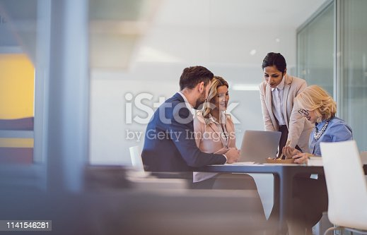 Business People Discussing in The Office